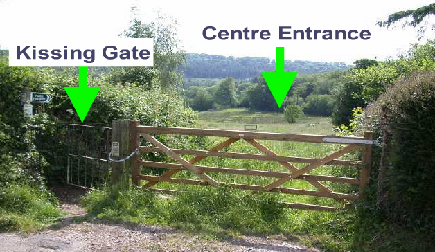 Go across the field to the kissing gate diagonally opposite.