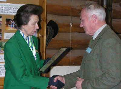 HRH The Princess Royal presents the John Mejor Award to Chairman of the Trustees Mr David  Lyons.